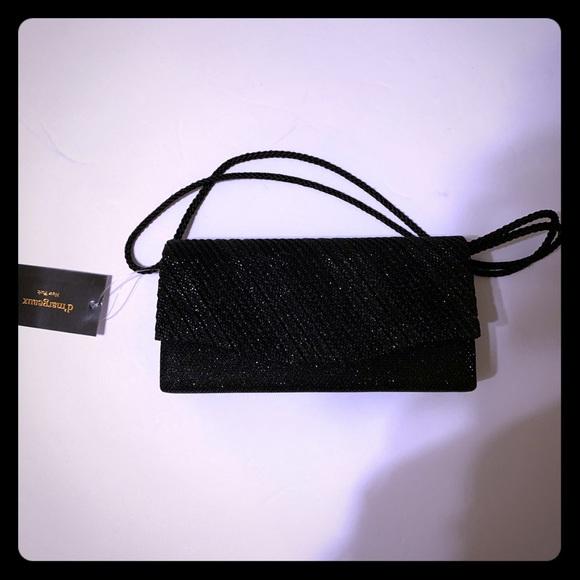 D'margeaux Handbags - Sparkly Black Evening Bag - [BG-5]